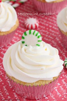 Get into the holiday spirit with these festive double peppermint cupcakes. Peppermint exact and peppermint creamer are used both in the cupcake batter and frosting for a double peppermint dose!