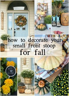 How to Decorate Your Small Front Porch for Fall - House by Hoff