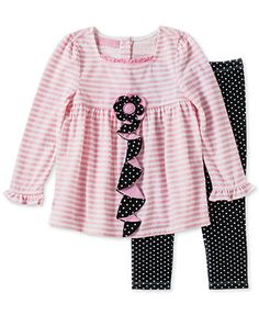 Kids Headquarters Baby Girls' 2-Piece Tunic & Leggings Set