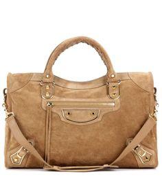 mytheresa.com - Tasche Classic Metallic Edge City aus Veloursleder - Luxury Fashion for Women / Designer clothing, shoes, bags