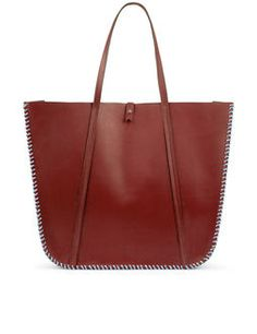 Bordeaux Multi Stitch Feuillade Tote Bag
