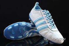 3c564cc9c Casual Adidas Adipure IV TRX FG White Blue Finest Materials Big TopDeals