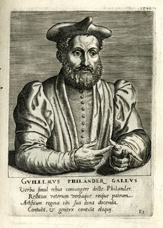 Portrait of Guillaume Philandrier, bust one quarter to the right.  1567  Engraving