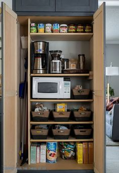 how to organize a small pantry, closet, diy, how to, kitchen cabinets, kitchen…