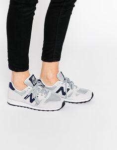 New Balance – Wildleder-Sneakers, Nude 7, Marineblau 373