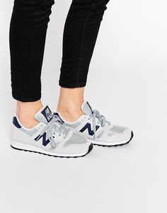Image 1 of New Balance Suede Nude 7 Navy 373 Trainers