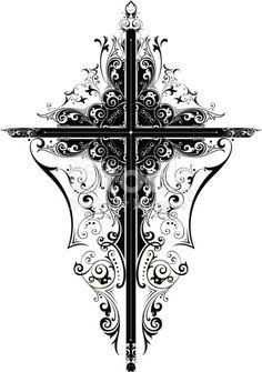 An elegant cross design.
