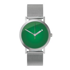 minimalist watch. hour hand is cut out to subtly show number.