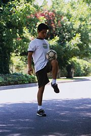 How to Juggle a Soccer Ball: http://www.wikihow.com/Juggle-a-Soccer-Ball
