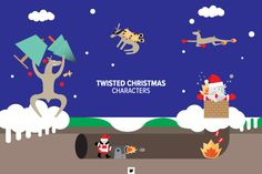 Vectors - Twisted Christmas Characters by Jackkrit Anantakul available at YouWorkForThem.