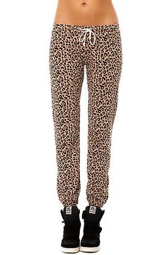 The Lola Sweatpant in Clay Leopard by Obey use rep code: OLIVE for 20% off!