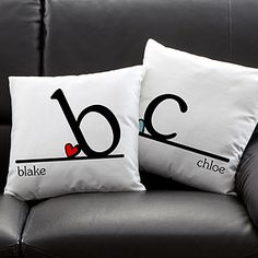 These pillows are adorable! Great idea for a new couple or for a housewarming gift! They're so sweet!