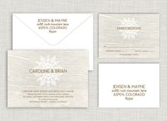 Woodland Snowfall Wedding Suite Order @ www.saraheilwagen.com #winterwedding #snowwedding