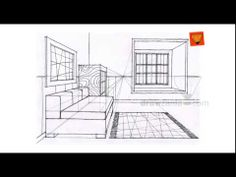 Perspective Drawing: Intermediate 17 inter one point id 07 - YouTube