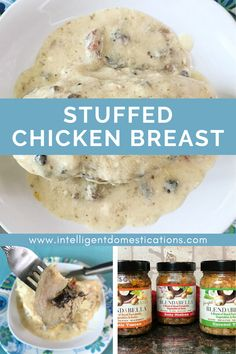 How to make a lower carb boneless skinless Veggie stuffed chicken breast. Our recipe is made on the stove top and the milk gravy is made from scratch using the pan rendereings. #dinneridea #stuffedchickenbreast #bonelessskinlesschicken #easychickenrecip Mushroom Vegetable, Milk Gravy, Stuffed Chicken, Boneless Skinless Chicken, Mushroom Recipes, Low Carb Recipes, Cooking Tips, Stove, Chicken Recipes