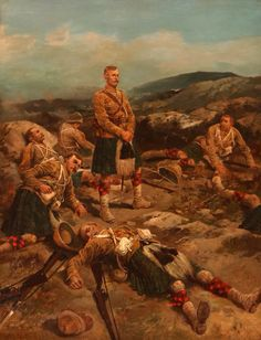 Black Watch after the Highland Brigade's attack at the Battle of Magersfontein on December 1899 in the Boer War: picture by Frank Feller British Soldier, British Army, Military Art, Military History, Scottish Warrior, Scotland History, Army Day, Age Of Empires, Historical Art