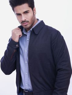 Charcoal Herringbone Jacket