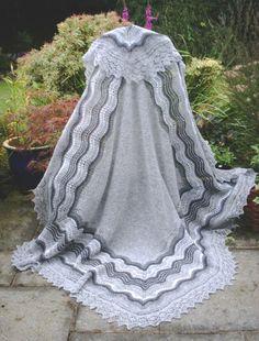 The Grey Shawl pdf ~ Heirloom Knitting ~ Sharon Miller