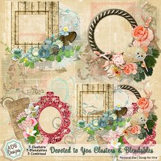 Devoted to You - Accents {Clusters, Blendables & Combined} - $2.24 : Digital Scrapbooking Studio  #ADBDesigns #Digiscrap