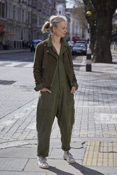 I've been named as one of the Telegraph Stella Magazine's 'over-35 Instagram style stars you need to know.' Very pleased about that. Khaki Malarkey: biker jacket and jumpsuit.