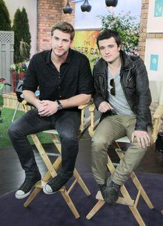 Hot Guys Liam Hemsworth & Josh Hutcherson Promote 'The Hunger Games' in Toronto
