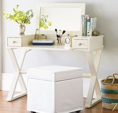 Make up table with outlet