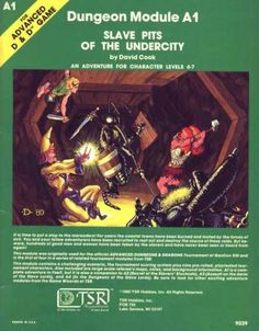 """A1 """"Slave Pits of the Undercity"""", AD&D 1st Edition, 1989, TSR9039... A """"Aerie of the Slave Lords"""", 1 of 5"""