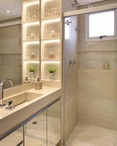 20 Modern Small Bathroom Furniture And Creative Decorating Ideas - 1 Decorate Modern Small Bathrooms, Dream Bathrooms, Modern Bathroom, Bad Inspiration, Bathroom Inspiration, Small Bathroom Furniture, Toilet Design, Bathroom Interior Design, House Design