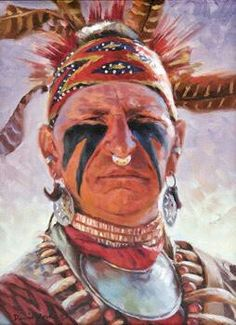 Nativeamericanwarriors red road warrior detail painting by seminole man by david yorke ck fandeluxe Gallery