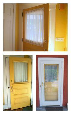 Improved door window coverings