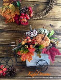 Halloween, Autumn Wreaths, Diy Party Decorations, Fall Flowers, Fall Season, Fall Decor, Diy And Crafts, Holiday, Inspiration