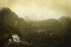Hohenschwangau Castle - Old photo effect