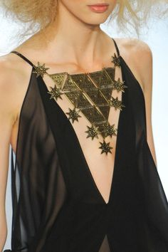 Necklace from Mara Hoffmann FW 2012 - kinda tribal meets space alien.