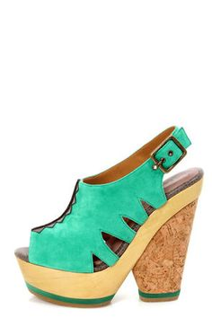 Blonde Ambition Nafita Jade Cutout Peep Toe Clog Platform Heels at LuLus.com!   Found them in a great color but out of stock...