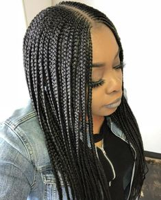 Wavy Centre-Parted Tree Braids - Top 25 Tree Braids Hairstyles - The Trending Hairstyle Nigerian Braids Hairstyles, Tree Braids Hairstyles, My Hairstyle, African Hairstyles, Girl Hairstyles, Braided Hairstyles, Black Girl Braids, Girls Braids, Natural Hair Styles