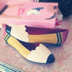 pencil flats // Looks like something Miss Frizzle would wear.  ^_^  I like!