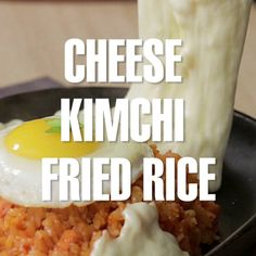 Recipe in comments Corn Cheese, Cheese Fries, Kimchee Fried Rice, Asian Recipes, Ethnic Recipes, Korean Food, Kimchi, Tasty Dishes, Spicy