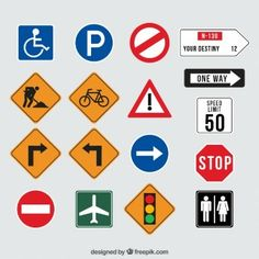 Collection of traffic signs Premium Vector 2nd Birthday Party For Boys, Cars Birthday Parties, Kids Travel Activities, Book Activities, My Little Kids, Festa Hot Wheels, Transportation Birthday, Alphabet Songs, Wheels On The Bus
