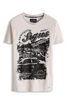 www.davidemartini.ink for Esprit / Jersey T-Shirt mit Print, 100% Baumwolle