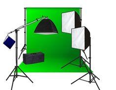 Lumitec - Materiais para Fotografia | Photobook | Estúdio fotográfico | RadioFlash | ATEK :: Estúdio completo luz continua day light 5500, 3 fontes de luz de 125ws cada modelo razy - R$ 1.879,00