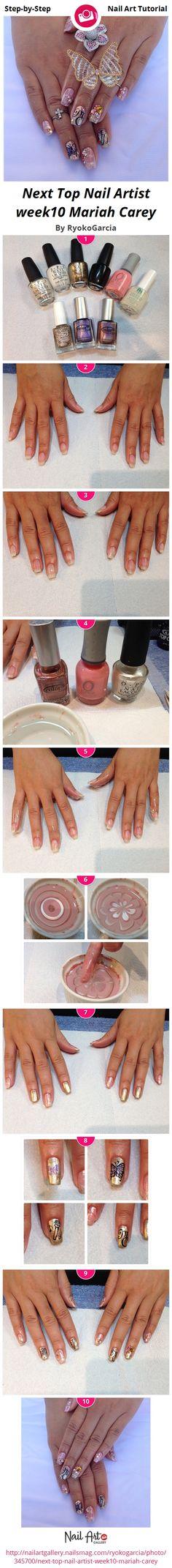 Next Top Nail Artist week5 50\'s theme by RyokoGarcia - Nail Art ...