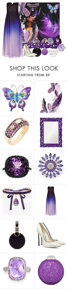 """""""Purple Glamour"""" by jaymagic ❤ liked on Polyvore featuring Phillips House, Howard Elliott, Kim Rogers, Rosantica, City Chic, Tara Zadeh, Casadei and Bling Jewelry"""