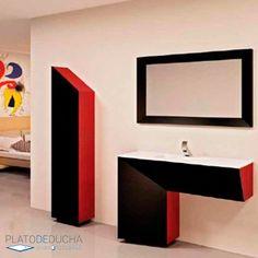 Mueble de Baño Line de 100 cm. Mueble de Baño diseñado a medida Bathroom Lighting, Mirror, Furniture, Home Decor, Bathroom Furniture, Apartment Bathroom Design, Bathroom Light Fittings, Bathroom Vanity Lighting, Decoration Home