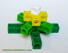 Secuencia geometrica hecha con policubos. Suma de piezas en cruz Math Activities, Puzzles, Usb Flash Drive, Toys, Cubes, Mathematics, Ideas Para, Montessori, School