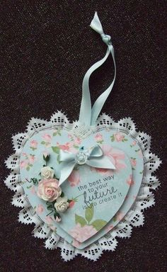 Shabby chic heart made by me!