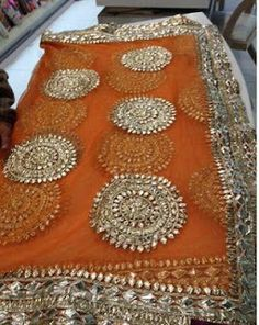 Orange and Pink Gota kaam Indian Bridal. Pakistani Fashion Party Wear, Pakistani Wedding Dresses, Pakistani Dress Design, Pakistani Outfits, Indian Dresses, Indian Outfits, Indian Fashion, Bridal Dresses, Mehndi Outfit