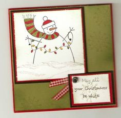 Happy Snowman by faithyc - Cards and Paper Crafts at Splitcoaststampers Stamping Up, Snowman, Christmas Cards, Scrapbooking, Paper Crafts, Simple, Happy, Art, Christmas E Cards
