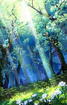 Reminds me of zelda scenery paisajes anime, beautiful landscapes, anime backgrounds wallpapers, anime Fantasy Art Landscapes, Fantasy Landscape, Beautiful Landscapes, Abstract Landscape, Painting Abstract, Acrylic Paintings, Watercolor Landscape, Grimgar, Watercolor Circles