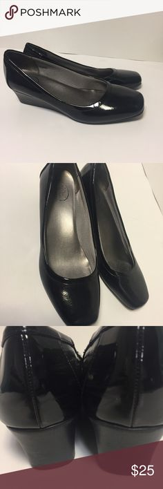 Life stride patent leather Life Stride simply comfort . Black patent leather wedge . Excellent condition Life Stride Shoes Heels