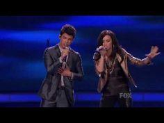 Joe Jonas & Demi Lovato performing 'Make a Wave' on American Idol 03/24/10